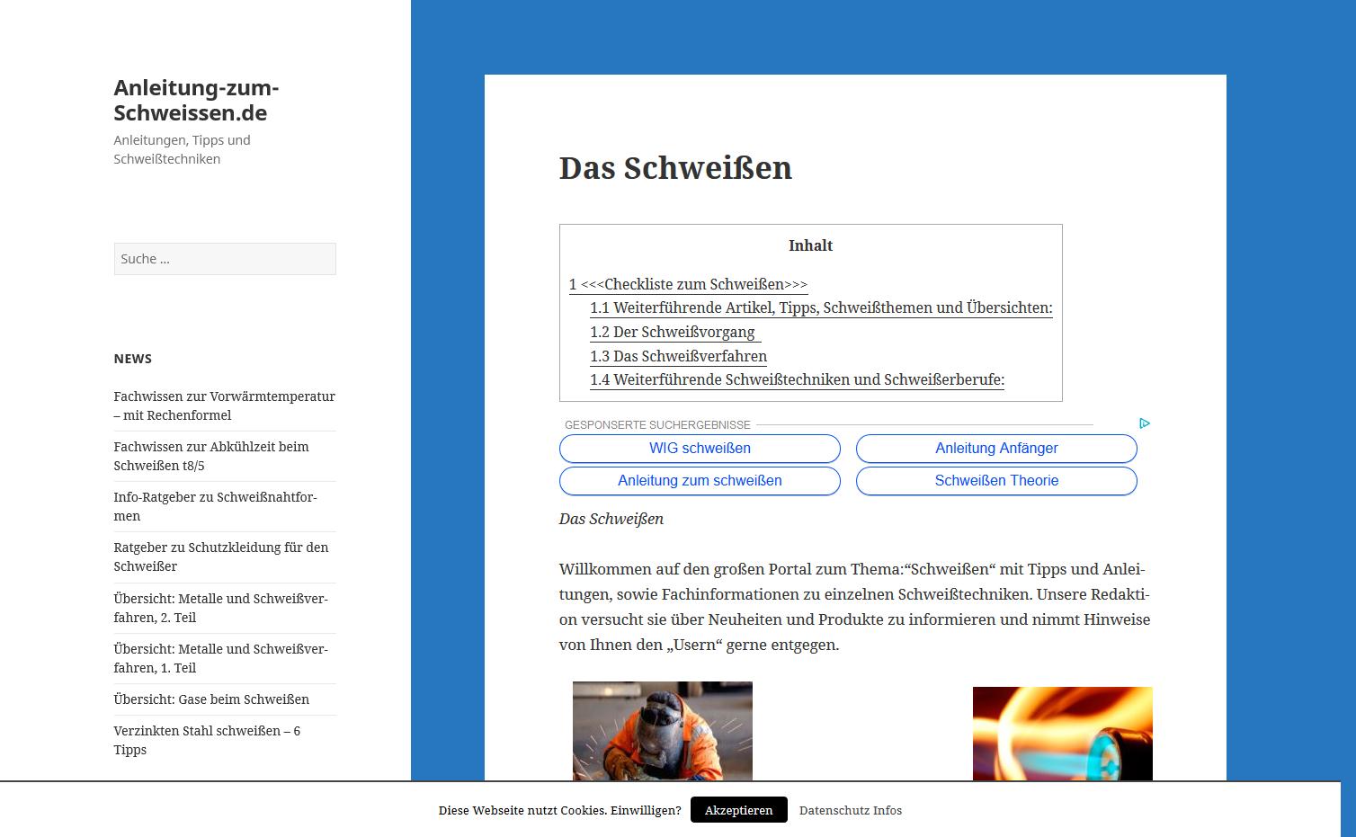 Anleitung zum Schweißen Website